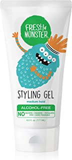product image for Fresh Monster Kids Hair Styling Gel | Natural, Alcohol-Free | Med Hold | 6oz | Children & Baby Hair Gel