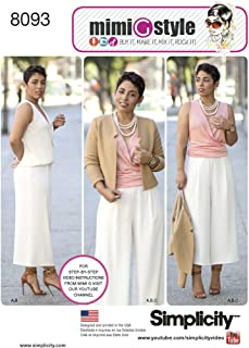 product image for Simplicity 8093 Women's Office Attire Clothing Sewing Pattern, Sizes 16-24