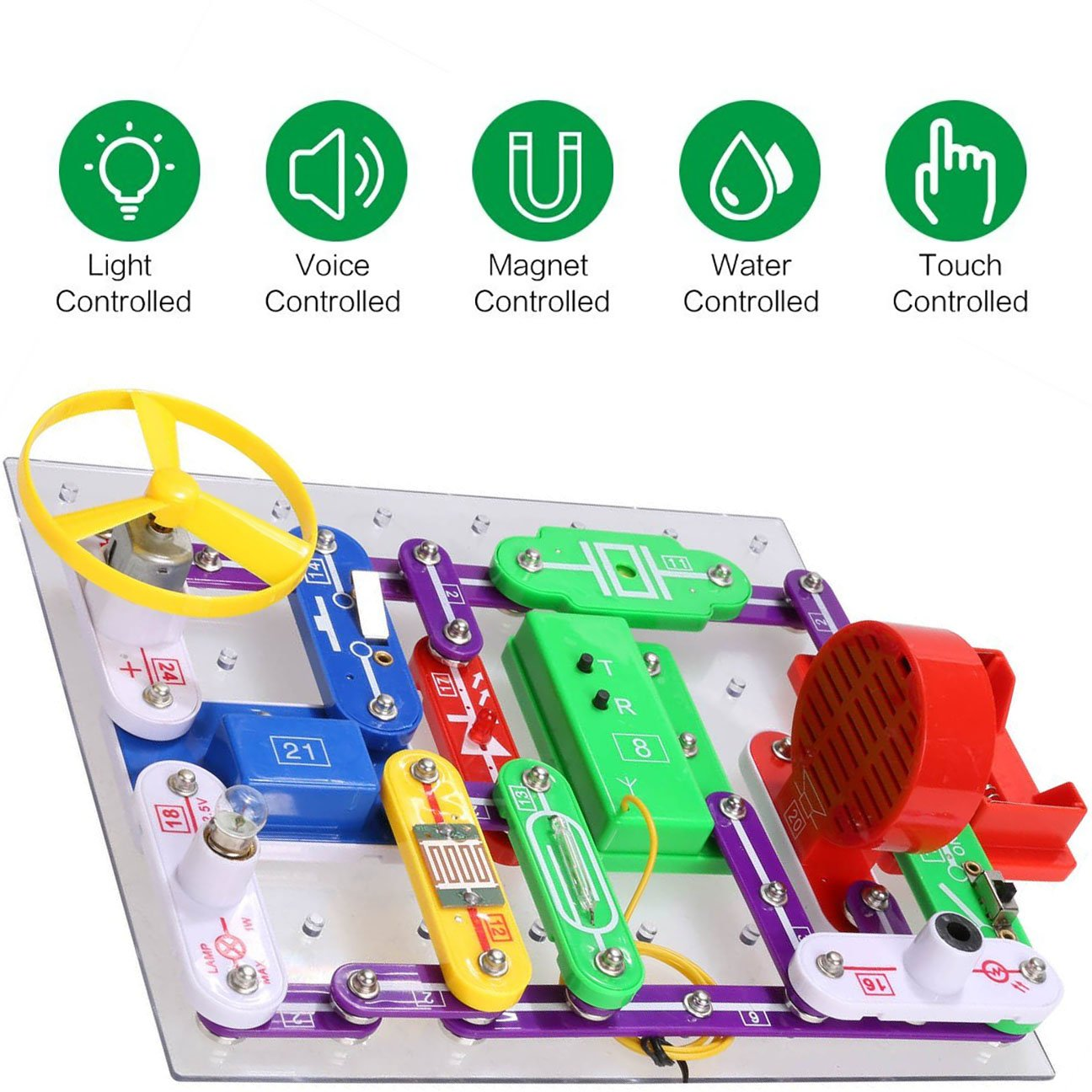 Ezlink 335 Diy Circuit Experimentsscience Kitselectronic Discovery Com Snap Circuits Green Alternative Energy Kit Toy For Kidskids Circuitskids Kitscience Experiments Kids