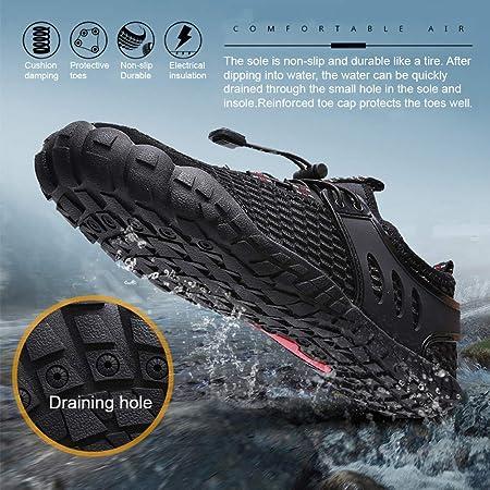 Calzado de Agua para Hombre Pies Descalzos de Secado rápido para Piscina Playa Rastreo de río Escalada Surf Aqua Sports 39-46 EU