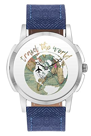 Buy travel watch bigowl travel the world airplane world map design buy travel watch bigowl travel the world airplane world map design leather strap casual wrist watch for men perfect gift for travellers watch with gumiabroncs Images