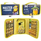 Anker Despicable Me Minions Colouring Zip Up Bag, More Then Meets The Eye, Filled With Lots of Stationary and Colours