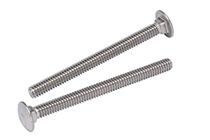 Carriage Bolts 18-8 Stainless Steel #10-24 x 1-1//4 Qty 25