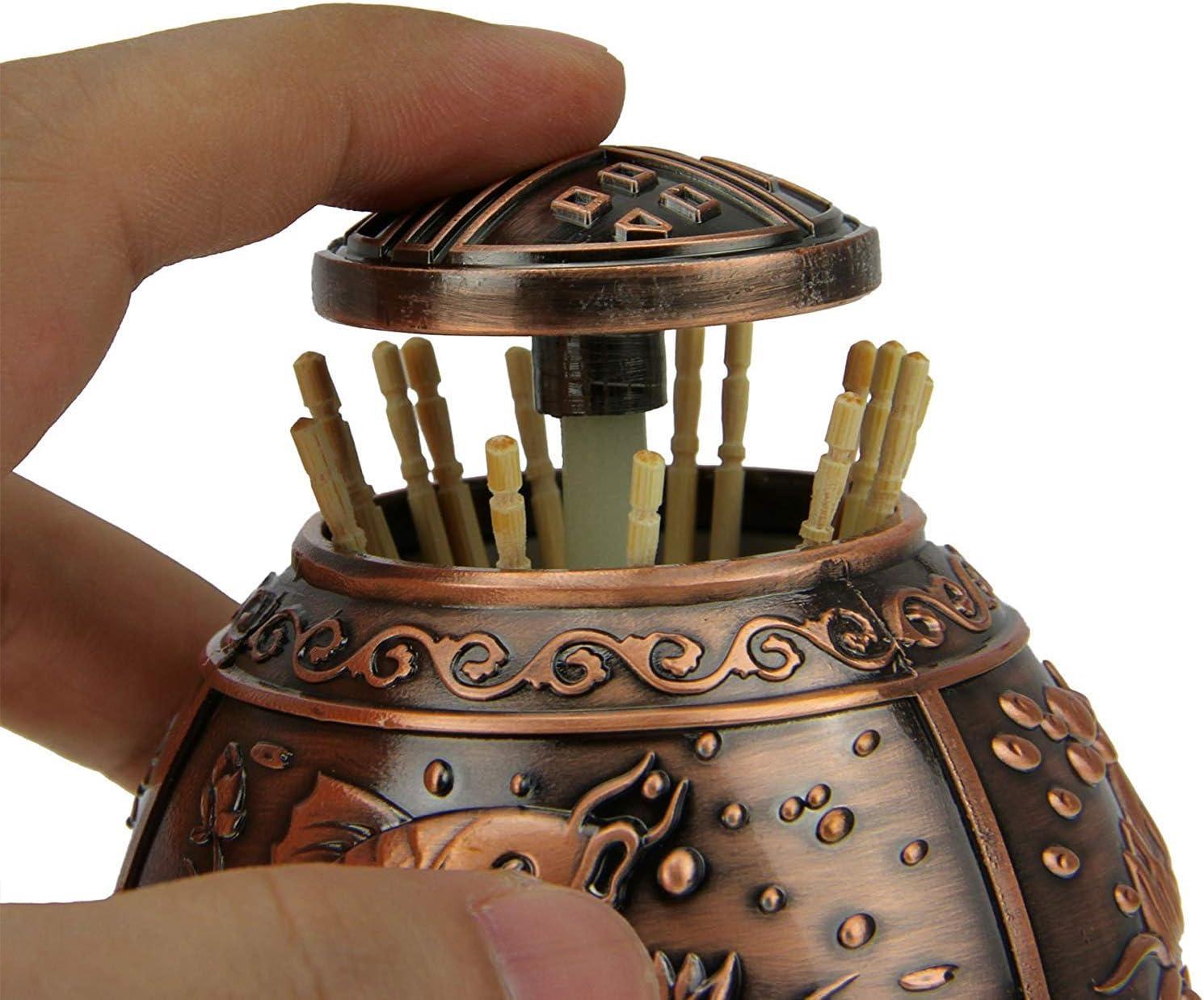 Julymall Geschmackvoller Marmor Outlooking Kunststoff Automatischer Pop-Up Zahnstocherhalter Cocktail Stick Zahnstocher Spender Box Dose Beh/älter Haushaltsdekoration B Hellgrau Kunststoff B
