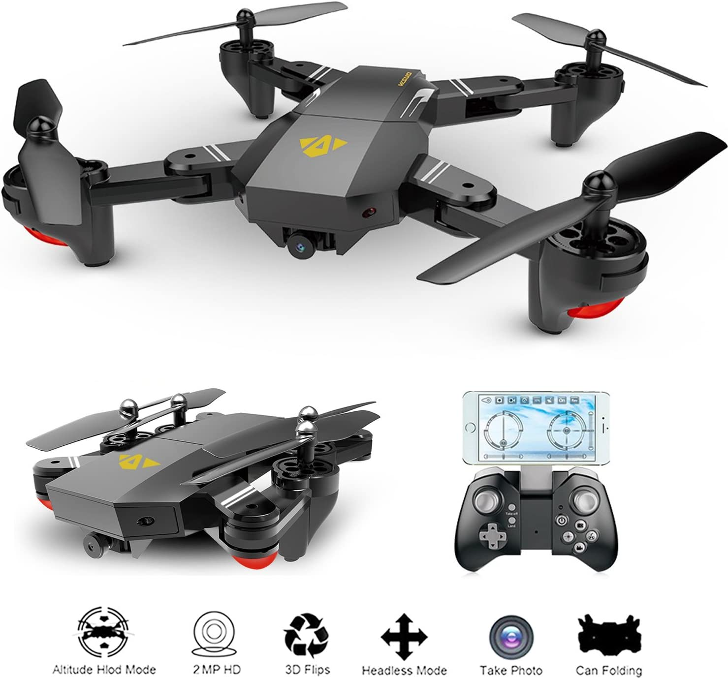 Foldable RC Quadcopter WiFi FPV Drone