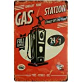 ERLOOD Company Name Gas Station Full Service Free Coffee Retro Vintage Decor Metal Tin Sign 12 X 8 Inches