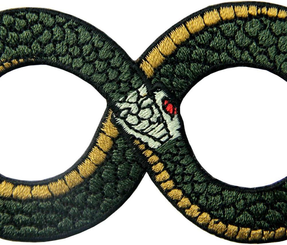 Parche termoadhesivo para la ropa, diseño de Ouroboros El símbolo ...