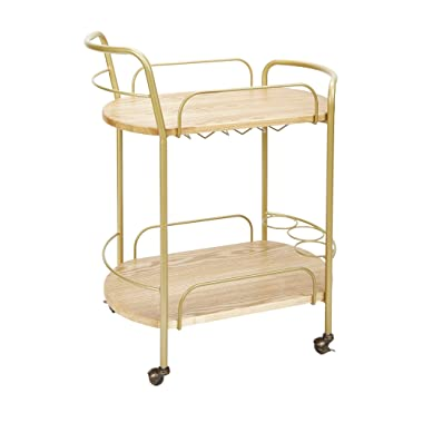 Silverwood FS1149-R-COM Wyndham 2-Tier Bar Cart 2, 17  L x 28  W x 34  H