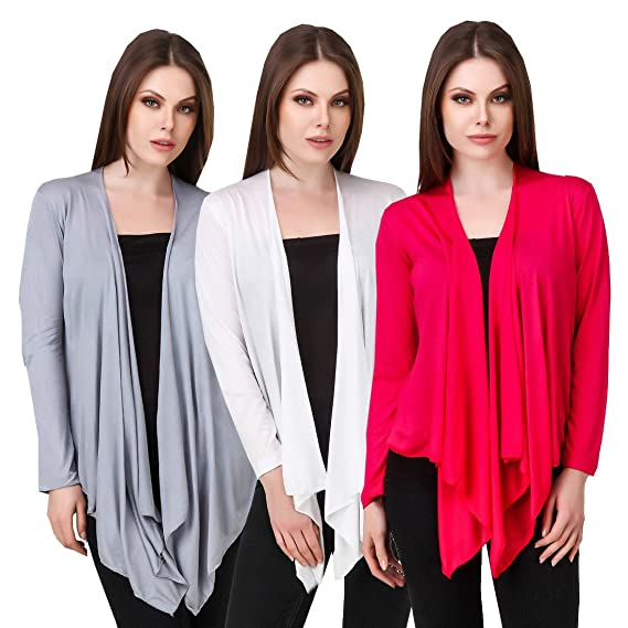 871f0d74add Komal Trading Co Women s coton grey white Rpink R Shrug stylish traditional  new fashion party wear shrug stylish summer casual wear shrug for  women girl by ...