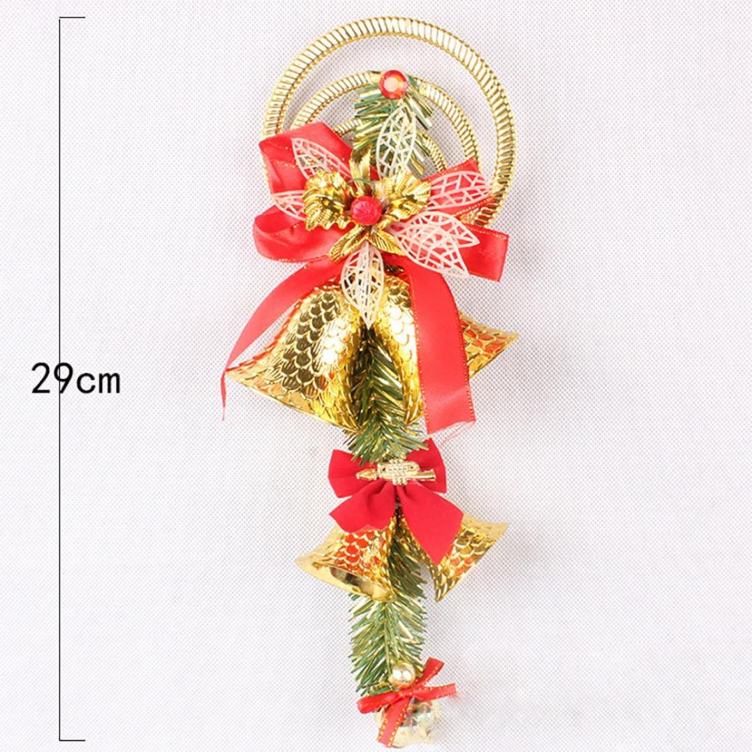 venmo large jingle bells craft with ribbons christmas tree hanging decorations bells for door wall decor - Large Christmas Bells Decorations