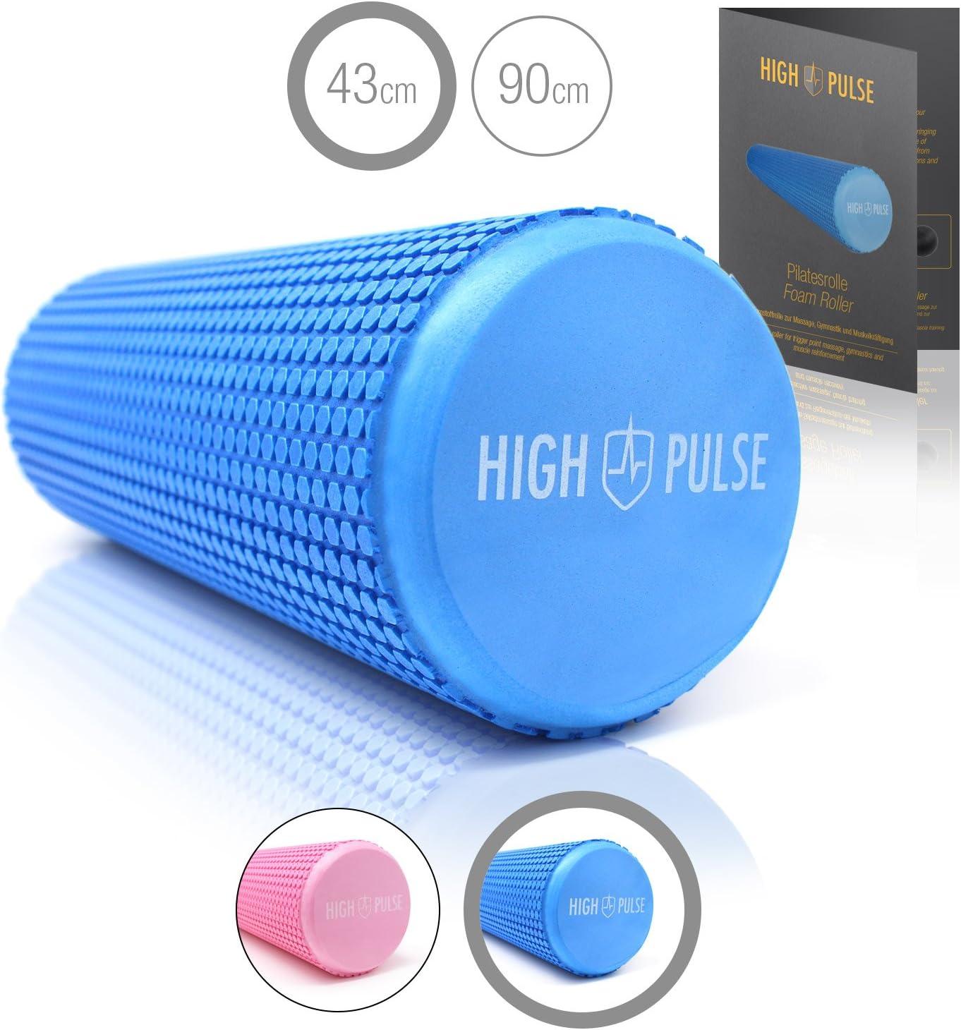 Schaumstoffrolle 90 x 15 cm Übungsposter High Pulse Pilatesrolle inkl