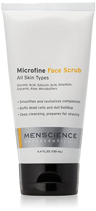 Menscience Microfine Face Scrub  130Ml/4.4Oz Burts Bees 100% Natural Moisturizing Lip Shimmer, Champagne - 1 Tube