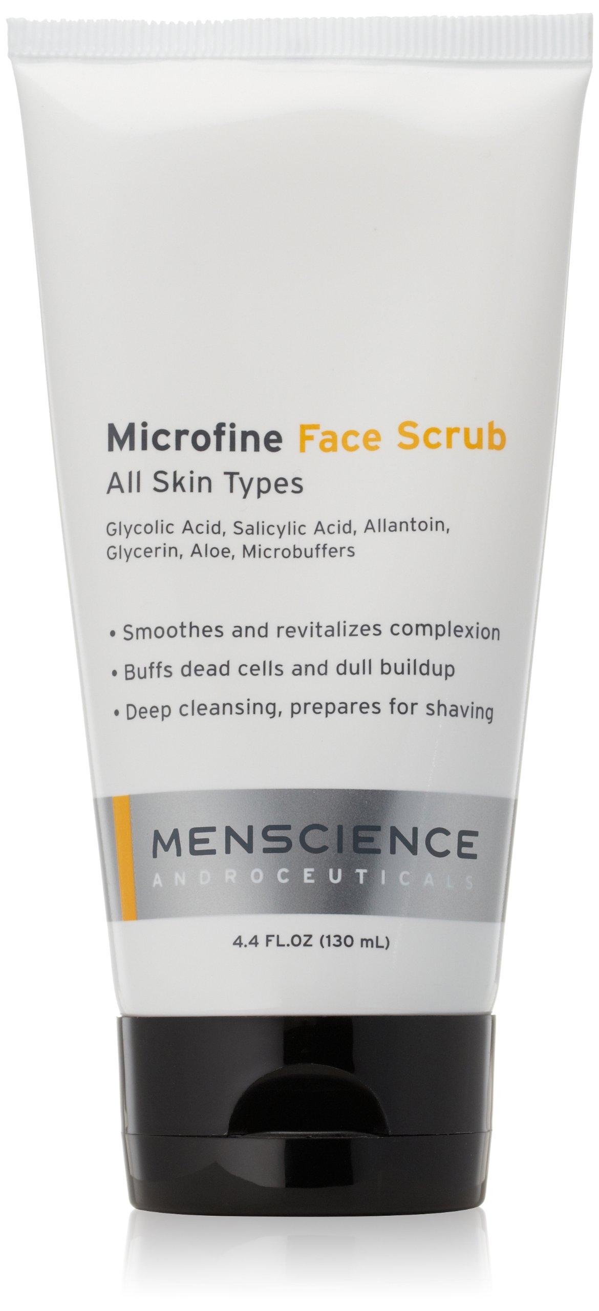 MenScience Androceuticals Microfine Face Scrub, All Natural, 4.4 Fl Oz