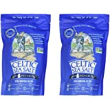 Light Grey Celtic Sea Salt Resealable Bags – Additive-Free, Delicious Sea Salt, Perfect for Cooking, Baking and More - Gluten-Free, Non-GMO Verified, Kosher and Paleo-Friendly, 1 Pound Bag (2 Count)