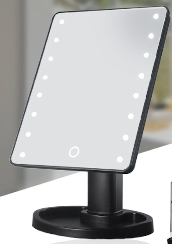 privé Twinkle écran tactile 16lumières LED Miroir de maquillage avec amovible Miroir grossissant x 10 Private Twinkle