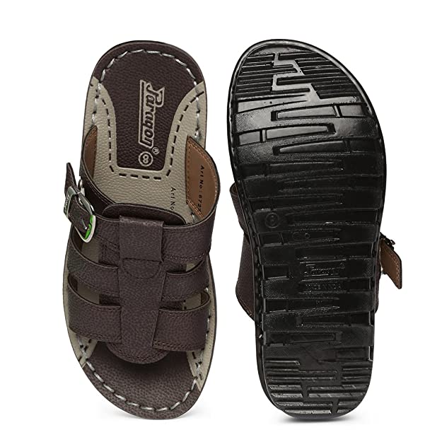 1295ffcf2e39 PARAGON Vertex Men s Brown Flip-Flops  Buy Online at Low Prices in India -  Amazon.in