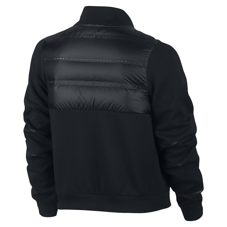 230100b0b2fa Amazon.com  Nike Girls Tech Fleece Aeroloft Bomber Goose Down Full Zip Jacket  Black Medium  Clothing