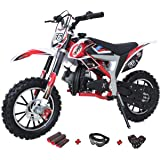 X-PRO Bolt 50cc Dirt Bike Gas Dirt Bike Kids Dirt Bikes Pit Bikes Youth Dirt Pitbike with Gloves, Goggle and Handgrip…