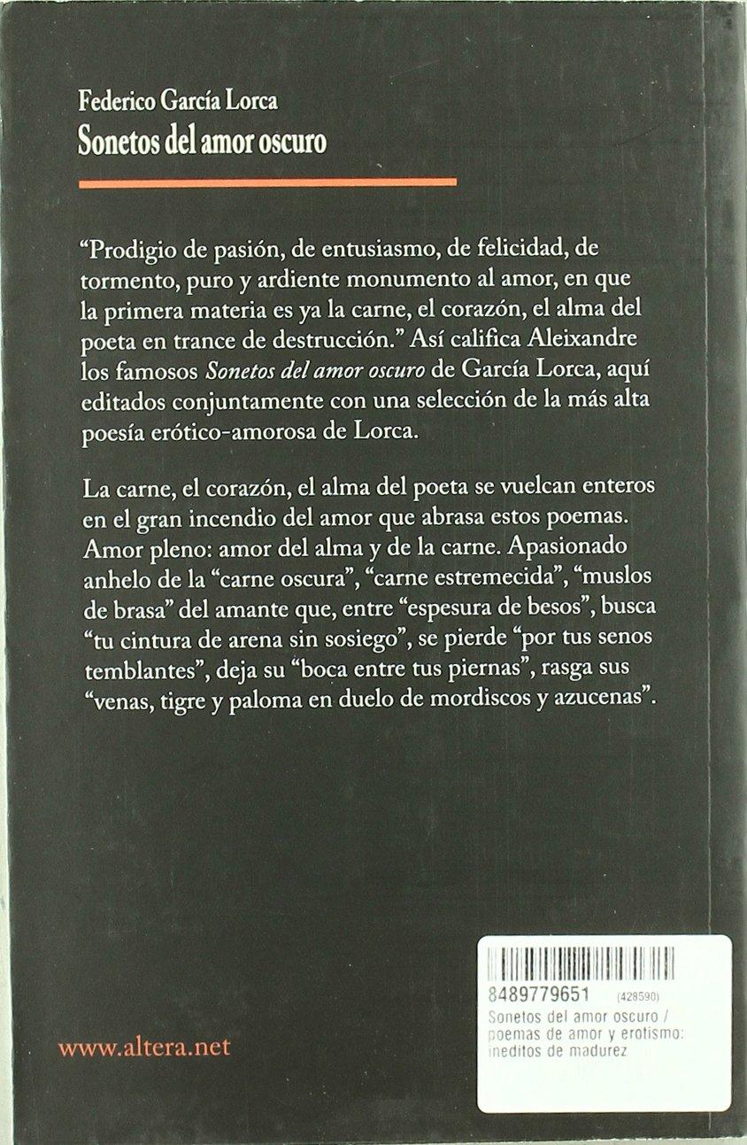 Sonetos Del Amor Oscuro Amazones Federico Garcia Lorca