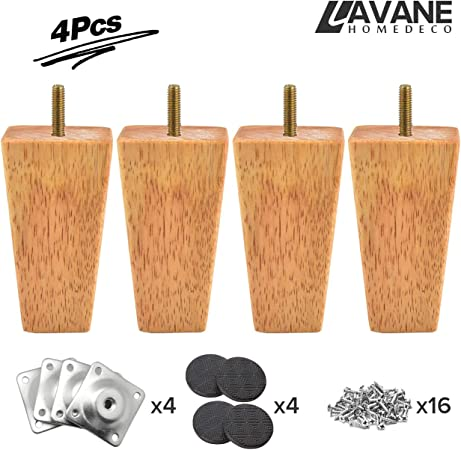 Verbazingwekkend 4 inch / 10cm Wooden Furniture Legs, La Vane Set of 4 Tapered NK-71