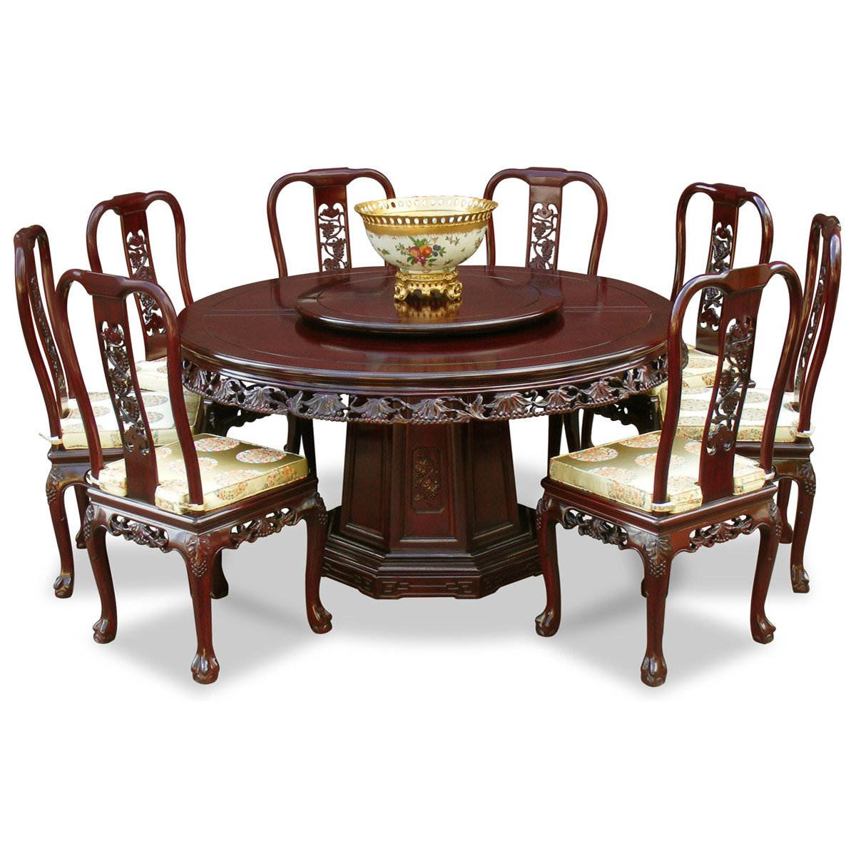 b64d331e79b26 Amazon.com - ChinaFurnitureOnline Rosewood Dining Table