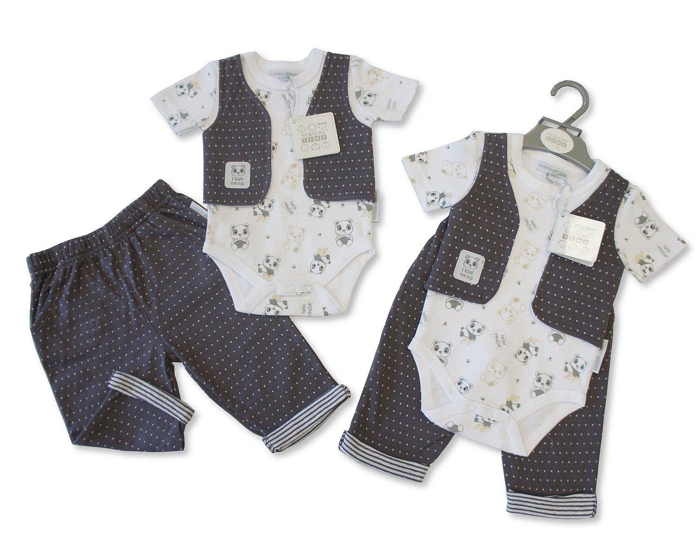 8cfd5b4a0 Baby Boy Outfit Panda Jumpsuit Vest Shorts