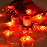 Bememo 8 Flash Modes Heart Shaped String Lights 8.2 Feet With 20 Pieces  Warm White Lights