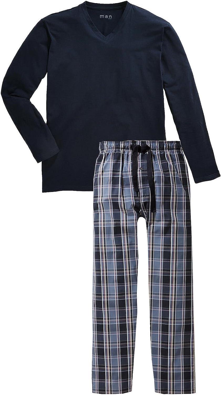 TCM Tchibo Hombre Pijama algodón orgánico cuadros, color azul: Amazon.es: Deportes y aire libre