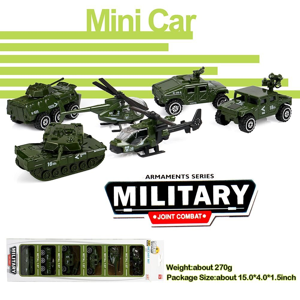 TankJeepPanzer 6 Assorti Pack Jouet Tacobear Moulés Sous Véhicules Véhicule Mini Militaires Set Armée Pression mNnvO80w
