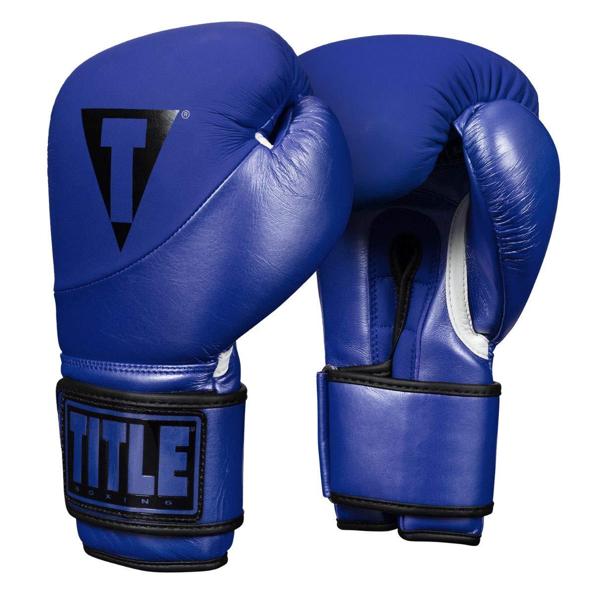 Title ボクシングサイクロンレザーバッググローブ ブルー 18 oz