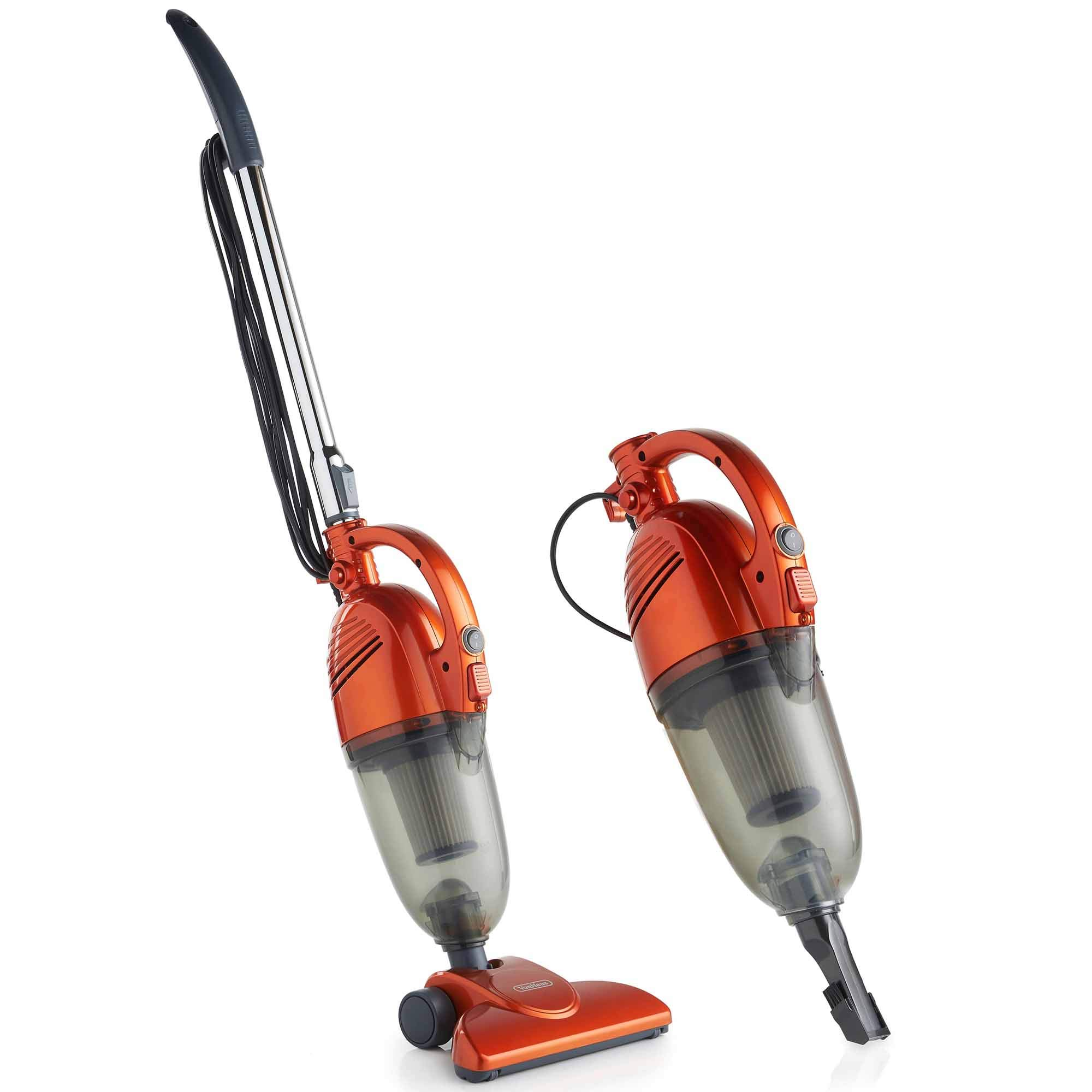 VonHaus 2 in 1 Stick & Handheld Vacuum Cleaner - 600W Corded Upright Vac with Lightweight Design, HEPA Filtration, Extendable Handle, Crevice Tool and Brush Accessories - Ideal for Hardwood Floors by VonHaus