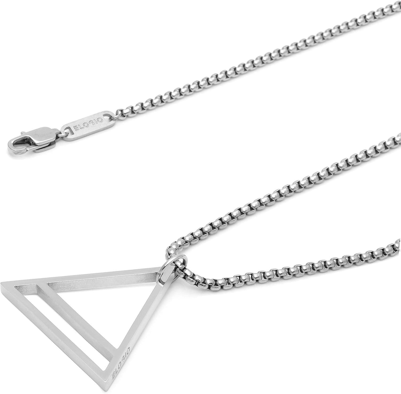 Premium Men's Necklaces - The Trinity - Silver Necklace - Men's Pendants  and Chains - Luxury Men's Jewelry by Elogio: Amazon.ca: Jewelry