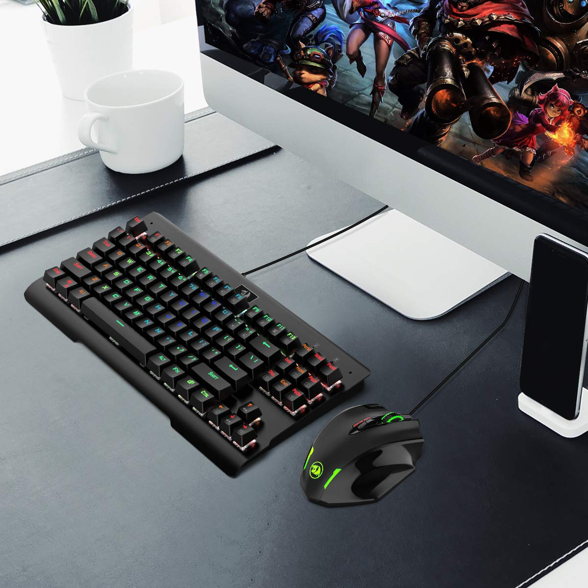 Redragon Impact RGB LED MMO Mouse with Side Buttons Laser Wired Gaming Mouse with 12,400DPI, High Precision, 19 Programmable Mouse Buttons by Redragon (Image #7)