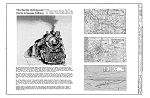 Historic Pictoric Blueprint Diagram Cover Sheet - Turntable: Eureka Springs & North Arkansas Railroad, Highway 23, Eureka Springs, Carroll County, AR 12in x 08in