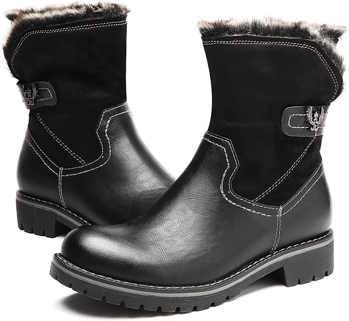 Warm Leather Boots Women