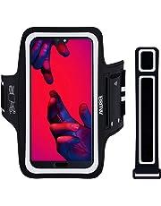 Fascia da Braccio Portacellulare per Correre, EOTW Porta Cellulare Braccio per Huawei P20 Pro, iPhone 8 Plus/XS Max/XR, Samsung S10/S9 Plus Porta Smartphone Fascia Running (Per Smartphone 5''-6.5'')