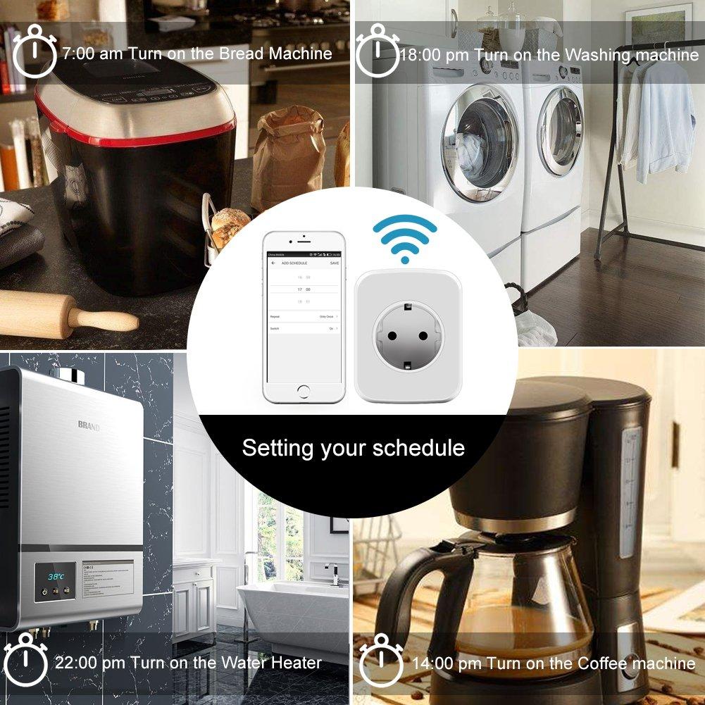Intelligente WiFi Steckdose Smart Plug, ZEPST Smart Home Systems funktionier mit Smartphone App Steuerung überall und zu jeder Zeit, Funktioniert mit Amazon Alexa und Google Home