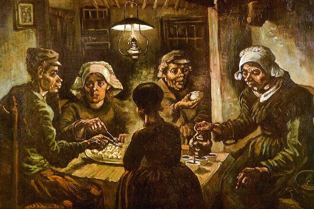 Vincent Van Gogh The Potato Eaters Cool Wall Decor Art Print Poster 36x24