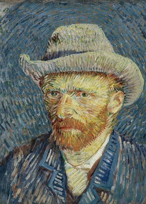 Vincent Van Gogh Autoportrait avec Chapeau de Feutre Gris, Détails ...