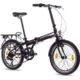 Bicicleta plegable de aleación de 20pulgadas de lujo City Bike CHRISSON foldrider 1.0con 7velocidades Shimano