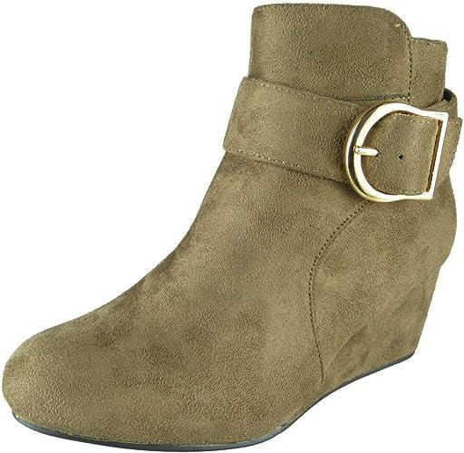 Women Mid Heel Boots   Ladies Wedge
