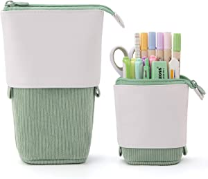 EASTHILL Pencil Case Standing Stationery Bag telescopic Pen Pouch Holder School College office Organizer for Girls Women Adults