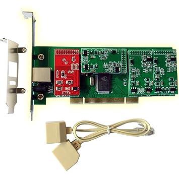 Tarjeta de Asterisk TDM400P con 1 FXO + FXS 3 Puertos, interfaz PCI, con placa de bajo perfil para 2U de trabajo o servidor: Amazon.es: Electrónica