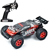 Vatos RC Car Off Road High Speed 4WD 40km/h 1:12 Scale 50M Remote Control 15 Mins Playing Time 2.4GHz Electric Vehicle Buggy Truck with LED Night Vision (RED UPGRADED)