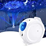 Star Projector, 4 in 1 LED Sky Projector with 13 Lighting Effects, Voice&Touch Control, 4H Auto-Off, Adjustable Base…