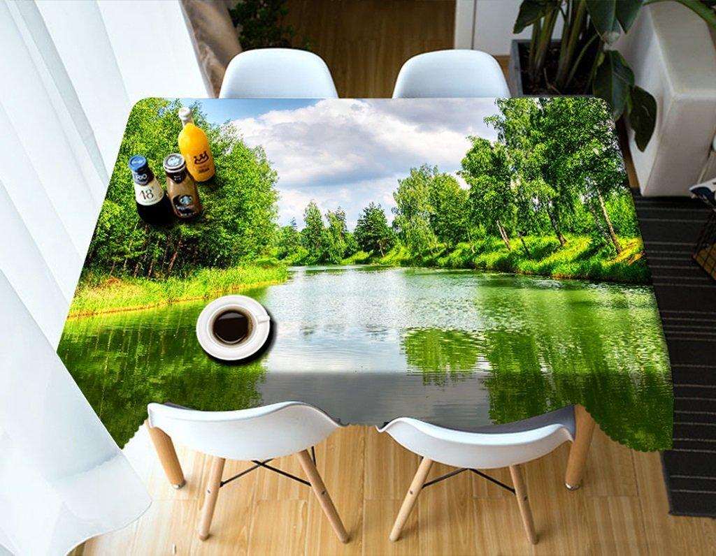 Reducción de precio Qiao jin Manteles Mantel Rectangular - Mantel Personalizado 3D PG01040 - ecológico y sin Sabor - Impermeable de impresión Digital (Tamaño : Square -228cm228cm)