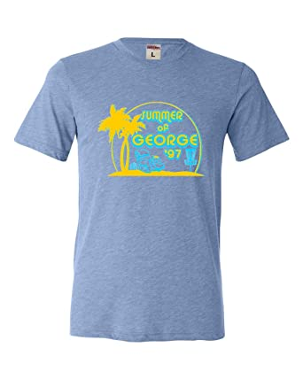 296c1dbf46b Go All Out Small Blue Adult Summer of George Funny Retro Comedy Triblend T- Shirt