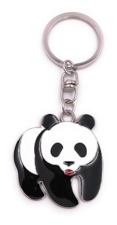 H-Customs Oso Panda en 4 Patas Llavero Colgante Plata Metal ...