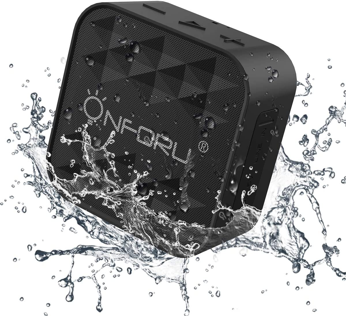 Onforu Mini Altavoz Bluetooth Inalámbrico, IPX7 Impermeable 10 Horas de Reproducción, Bluetooth 5.0 Speaker Mic Incorporado Sonido Estéreo Manos Libres para Móvil Tableta Playa Ducha