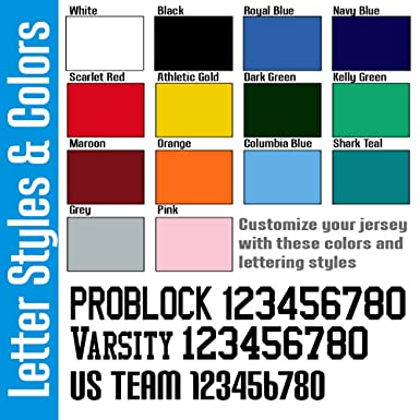 Amazon Com Custom Football Jersey For Youth And Adult You Design
